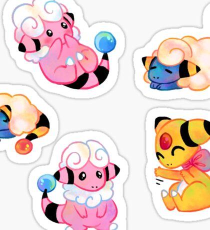 Pokemon - Electric Sheep Stickers Sticker
