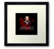 The Dark Passenger Framed Print