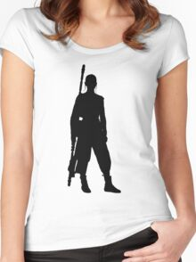 Rey - Standing Silhouette  Women's Fitted Scoop T-Shirt