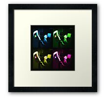 Thinking With Colours Framed Print