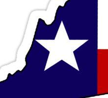 Texas flag Virginia outline Sticker
