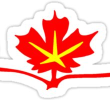 Red Maple Leaves Canadian Standard Symbol Sticker