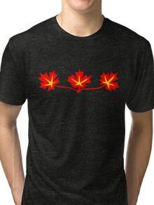 Red Maple Leaves Canadian Standard Symbol Tri-blend T-Shirt