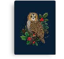 Holly Owl Canvas Print