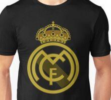 Real Madrid Fc addicted, golden logo Unisex T-Shirt