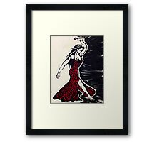 Brave the Dark and Own the Light Framed Print