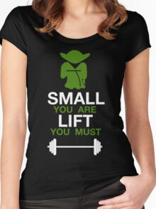 Yoda Workout Shirt Women's Fitted Scoop T-Shirt