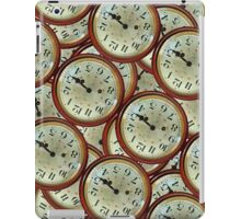 Vintage clocks pattern iPad Case/Skin