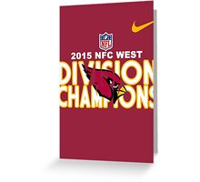 Arizona Cardinals - 2015 NFC West Division Champions Greeting Card