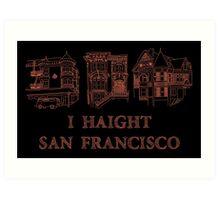 I Haight San Francisco Orange Art Print