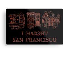 I Haight San Francisco Orange Metal Print