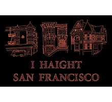 I Haight San Francisco Orange Photographic Print