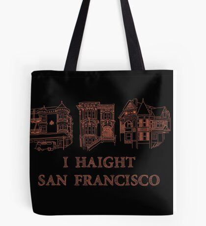 I Haight San Francisco Orange Tote Bag