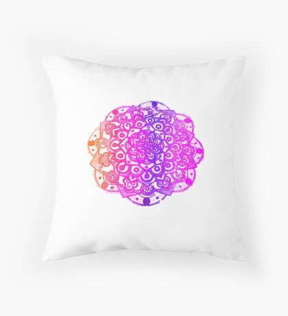 Watercolour Mandala  Throw Pillow