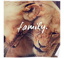 Family lions, Motivation Poster
