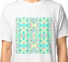 Pink, Yellow, and Teal Geometric Kaleidoscope Classic T-Shirt