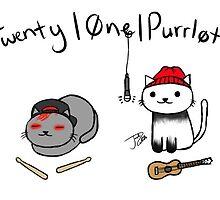 Twenty One Purrlots Stickers by djspookyjoshua