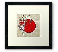 Okami Amaterasu Framed Print