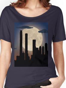 City Skyline - Night TIme Women's Relaxed Fit T-Shirt