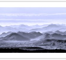 Sky Blue Hills Of The Tonto Sticker