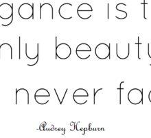 Audrey Hepburn Quote Sticker