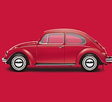 1970 Volkswagen Beetle - Royal Red by artbyedo