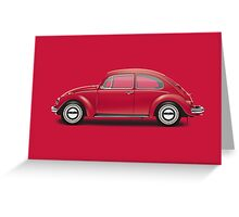 1970 Volkswagen Beetle - Royal Red Greeting Card