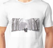 Snow in Central Park, New York City Unisex T-Shirt