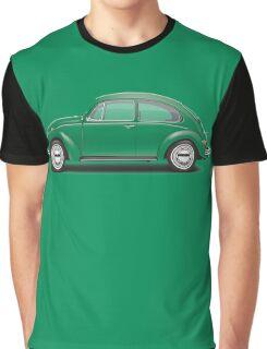 1971 Volkswagen Super Beetle - Elm Green Graphic T-Shirt