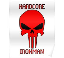 Runescape Hardcore Ironman Skull Poster