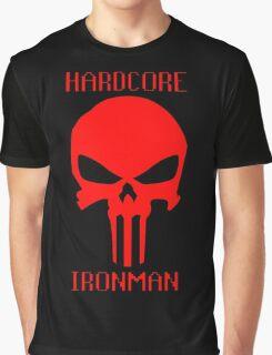 Runescape Hardcore Ironman Skull Graphic T-Shirt