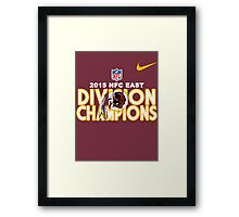 Washington Redskins - 2015 NFC East Champions Framed Print