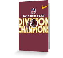 Washington Redskins - 2015 NFC East Champions Greeting Card