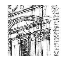 Complesso di San Firenze (black line) Photographic Print