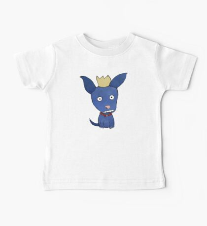 Blue Dog With Crown Baby Tee