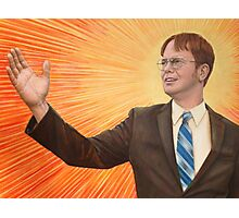 Dwight  Schrute The Messiah Photographic Print