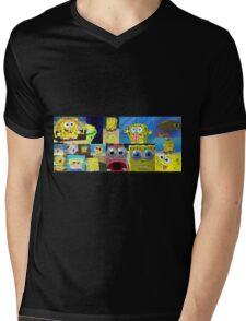 Sponge. Mens V-Neck T-Shirt