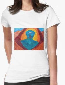 """The Eye (""""I"""" ) Of Life Womens Fitted T-Shirt"""
