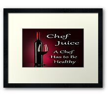Chef Juice Framed Print