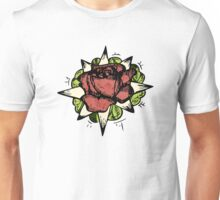 Illustrated Rose Patch  Unisex T-Shirt