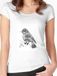 'Beaker' the bird Women's Fitted Scoop T-Shirt