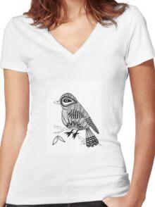 'Beaker' the bird Women's Fitted V-Neck T-Shirt