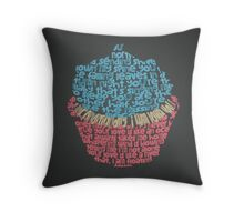 Top 40 Song Lyrics Cupcake Design Throw Pillow