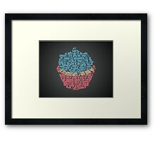 Top 40 Song Lyrics Cupcake Design Framed Print