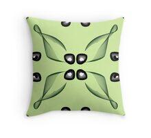 contemporary floral design Throw Pillow