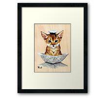 Sailor Cat Framed Print