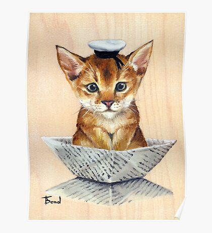 Sailor Cat Poster