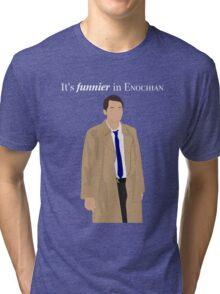 Supernatural - Castiel It's Funnier in Enochian Tri-blend T-Shirt