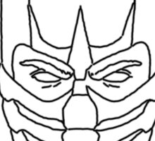 Mortal Kombat Scorpion - Outline Sketch Sticker