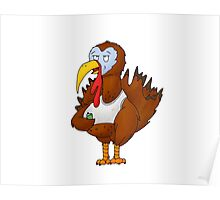 Beer Turkey Cartoon Poster